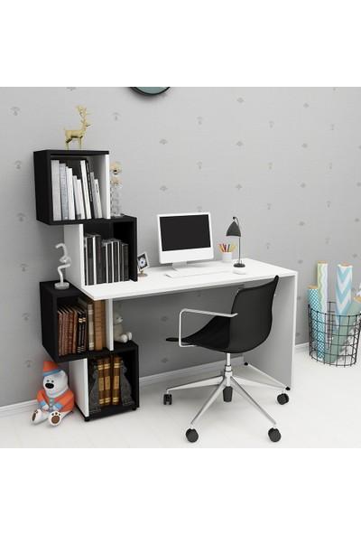 Rosette Labirent Siyah Beyaz Çalışma Masası