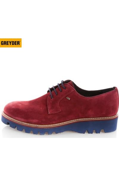 Greyder Erkek Oxford / Ayakkabı 5K1Ca56501 Greyder Mr Casual Ayk (S)Bordo Suet
