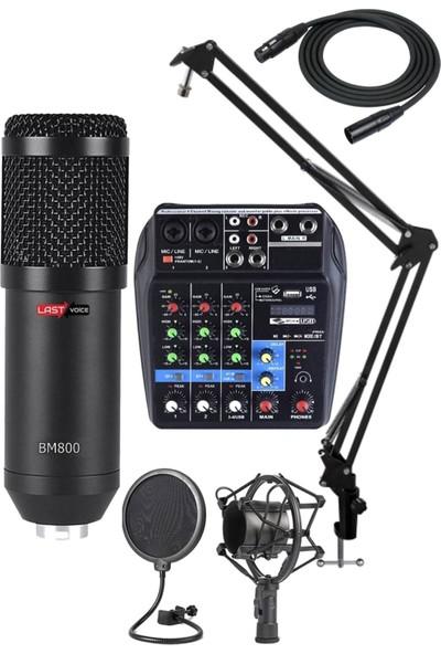 Lastvoice RecPaket-1 BM800 Mikrofon PhantomluMikserStandFiltre Set