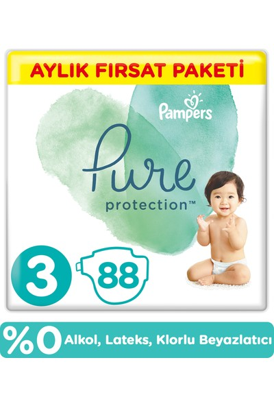 Prima Pure Bebek Bezi 3 Beden 88 Adet Aylık Fırsat Paketi