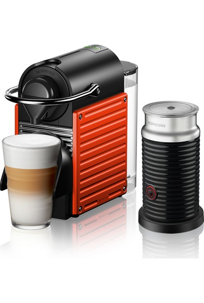 Nespresso C66R Pixie Red Bundle