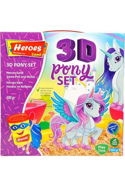 Heroes KUM-032 3D Kalıplı Pony 500 gr Kumlu Set