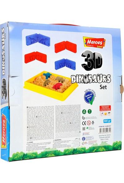 Heroes KUM-031 3D Kalıplı Dinozor 500 gr Kumlu Set