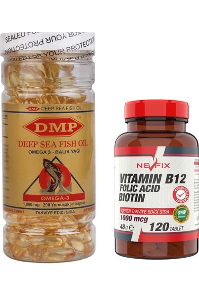 B12 Folic Acid Biotin 120 Tablet Omega 3 1000 Mg 200 Kapsül