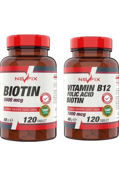 Nevfix B12 120 Tablet & Biotin 5000 Mcg 120 Tablet