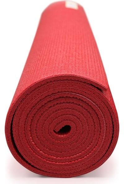 Amazonbasics Taşıma Askılı Kaymaz Yoga ve Egzersiz Minderi Kırmızı 6 mm