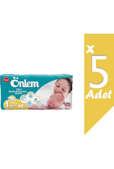 Önlem Ikiz Paket Bebek Bezi 1 Beden Yeni Doğan 2-5 kg 200 Lü