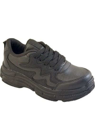 Kaptan Junior Kız Çocuk Günlük Ayakkabı Spor Pstr 650 Siyah