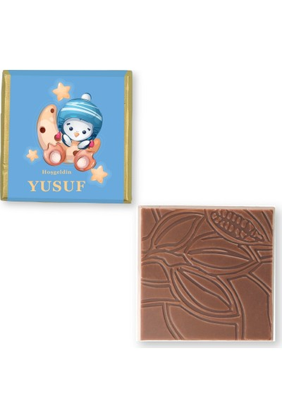 Valonia Dila Çikolata Erkek Bebek Çikolatası (100 Madlen)