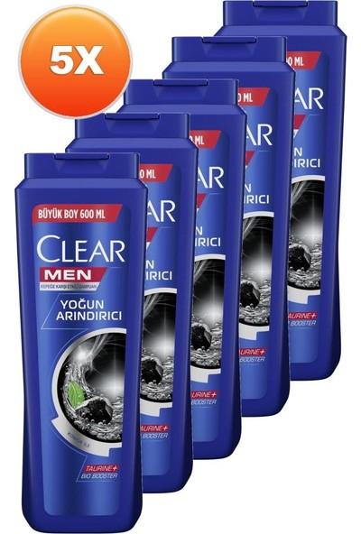 Clear Men Yoğun Arındırıcı Şampuan 600 ml 5'li Set