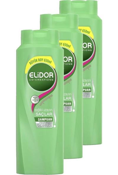 Elidor Şampuan Sağlıklı Uzayan Saçlar 650 ml 3'lü Set