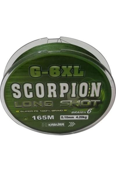 Kabura Scorpion G - 6xl Long Shot 0.25 mm %100 Super Pe Braid x 6 165 mt Örgü İp Misina