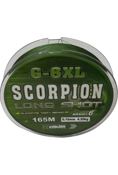 Kabura Scorpion G - 6xl Long Shot 0.20 mm %100 Super Pe Braid x 6 165 mt Örgü İp Misina