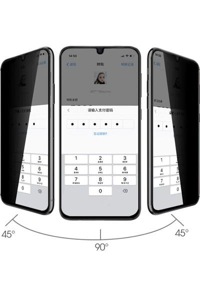 Happyshop Huawei P Smart S Yanlardan Görünmeyen 5D Privacy Cam Ekran Koruyucu Siyah