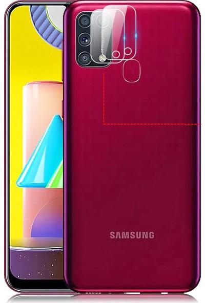 Happyshop Samsung Galaxy M31 Kamera Koruma Cam Ekran Koruyucu Şeffaf