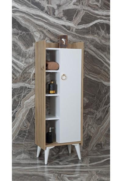 Dz Dizayn Zambak Çok Amaçlı Banyo Dolabı 50 x 30 x 140 cm