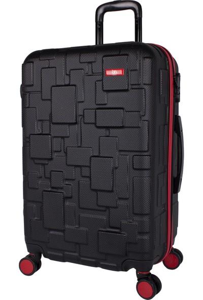 Bagacar Md1 8 Tekerlek Fiber Abs Kabin Boy Kırmızı - Siyah