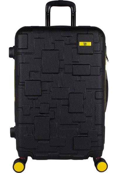 Bagacar Md1 8 Tekerlek Fiber Abs Büyük Boy Sarı - Siyah