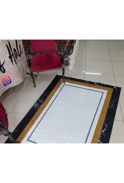 Apree Home Luxory, Kaymaz Dod Tabanlı, Makinada Yıkanabilir Halı 60 x 100 cm