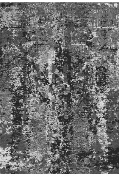 Apree Home Tarz Gri, Kaymaz Dod Tabanlı, Makinada Yıkanabilir Halı 80 x 140 cm
