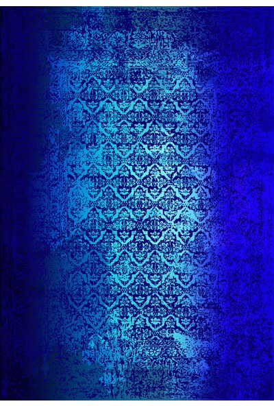 Apree Home Retro Mavi, Kaymaz Dod Tabanlı, Makinada Yıkanabilir Halı 80 x 140 cm