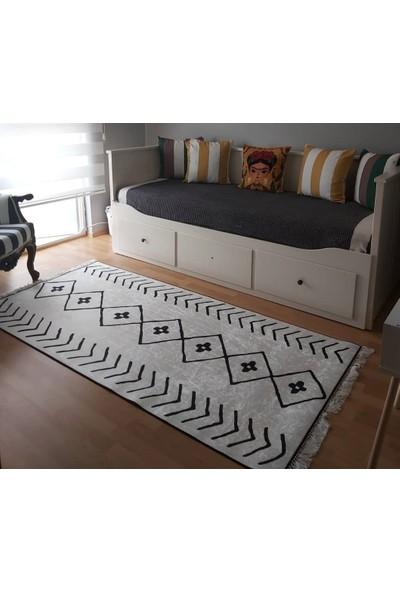 Apree Home İskandinav, Kaymaz Dod Tabanlı, Makinada Yıkanabilir Halı 80 x 140 cm