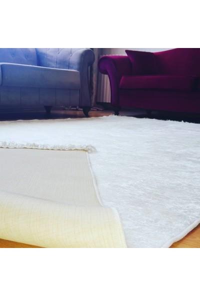 Apree Home Milad Beyaz, Kaymaz Dod Tabanlı, Makinada Yıkanabilir Halı 80 x 140 cm
