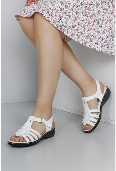 Gön Deri Kadın Sandalet 45028