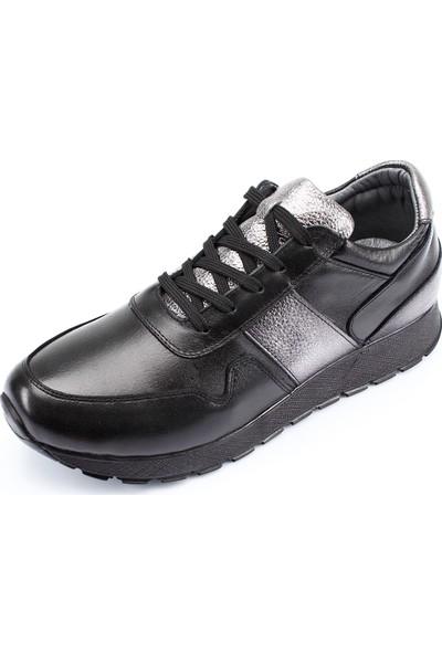 Gön Hakiki Deri Kadın Ayakkabı 45126 Siyah