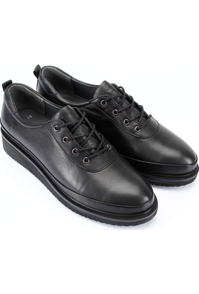 Gön Hakiki Deri Kadın Ayakkabı 77042 Siyah