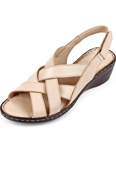 Gön Hakiki Deri Kadın Sandalet 45413