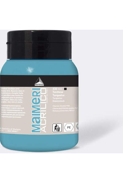 Maimeri No: 430 Akrilik Turquoise Renk 500 ml