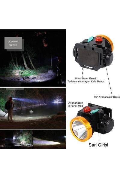 Yopigo 628-L Ipx6 10W LED 1000 mt Menzilli Süper Parlak Uzun Menzilli Şarjlı Kafa Feneri