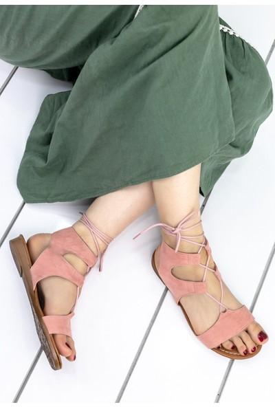 Erbilden Selah Pudra Süet Sandalet