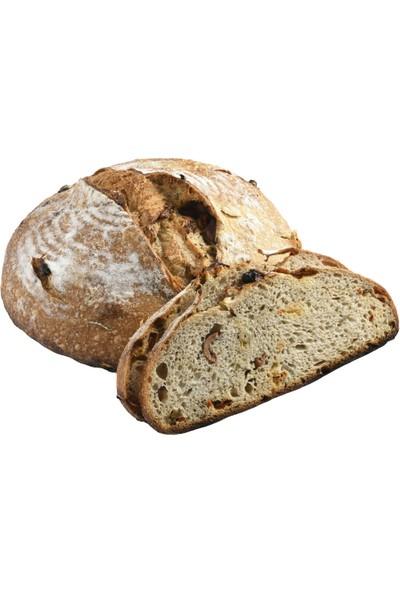 BioGurme Ekşi Mayalı Tam Buğday Ekmeği 1,1 kg - Ekşi Mayalı Özel Zeytinli Domatesli Ekmek 1,1 kg