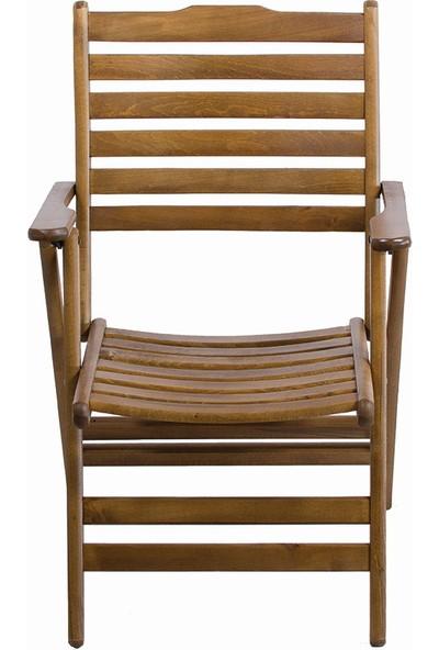 Bahçeme Ahşap Bahçe Balkon Mutfak Sandalyesi -Ürgüp Katlanabilir