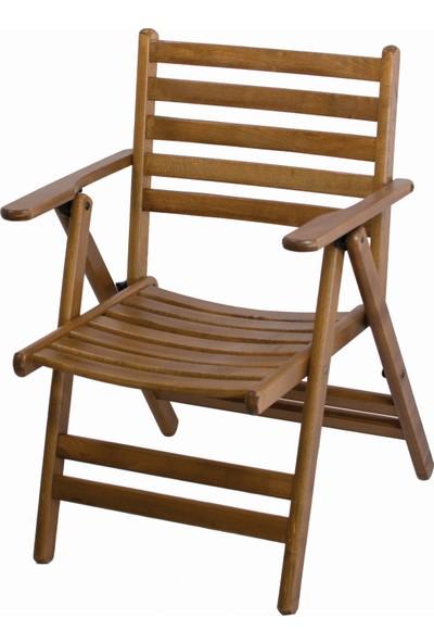 Bahçeme Ahşap Bahçe Balkon Mutfak Sandalyesi -London Katlanabilir