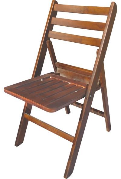 Bahçeme Ahşap Bahçe Balkon Mutfak Sandalyesi -Albatros Katlanabilir