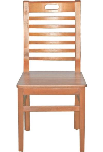 Bahçeme Ahşap Bahçe Balkon Mutfak Sandalyesi -Bodrum 4 Ayak