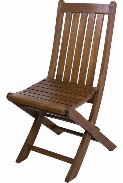 Bahçeme Ahşap Bahçe Balkon Mutfak Sandalyesi -Avşa Katlanabilir
