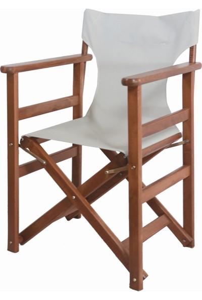 Bahçeme Ahşap Bahçe Balkon Mutfak Sandalyesi -Rejisör Katlanabilir