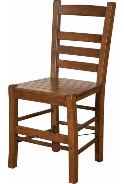 Bahçeme Ahşap Bahçe Balkon Mutfak Sandalyesi -Riva 4 Ayak