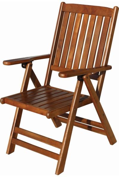 Bahçeme Ahşap Bahçe Balkon Mutfak Sandalyesi -Didim Katlanabilir