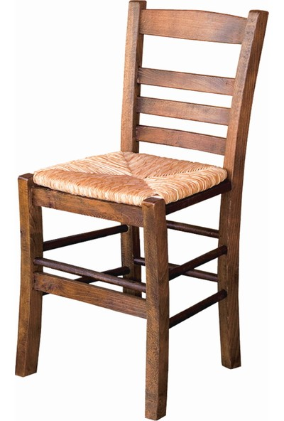 Bahçeme Ahşap Bahçe Balkon Mutfak Sandalyesi -Riva 4 Ayak Hasır Oturum