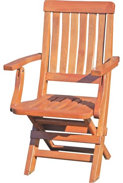 Bahçeme Ahşap Bahçe Balkon Mutfak Sandalyesi -Muğla Katlanabilir