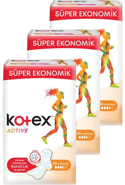 Kotex Active Quadro Normal 24'lü 3'lü Set