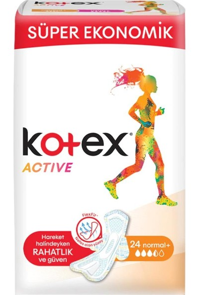 Kotex Active Quadro Normal 24'lü 12'li Set