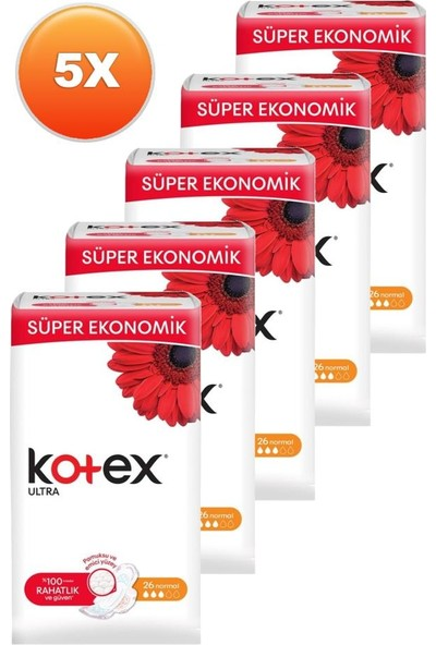 Kotex Ultra Normal 26'lı Beşli Set