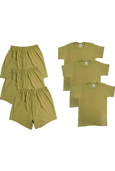 Seher Yıldızı 3'lü Asker Iç Çamaşırı Boxer Fanila - Askerlik Malzemeleri - Acemi ve Bedelli Malzemesi Seti