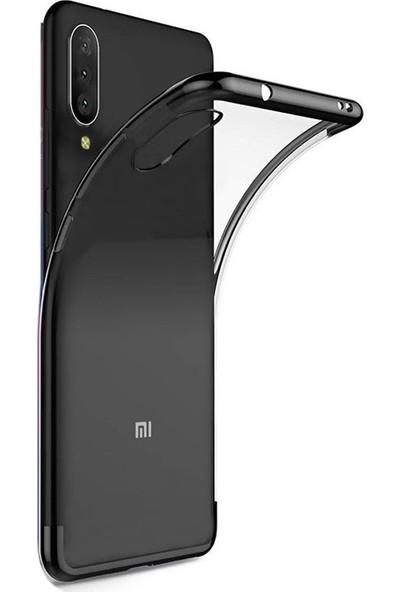 Aksesuarkolic Huawei P Smart Pro 2019 Kılıf Colored Silikon Yumuşak + HD Nano Ekran Koruyucu Siyah